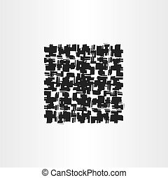 black grunge square abstract vector background