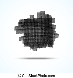 black grunge square design element