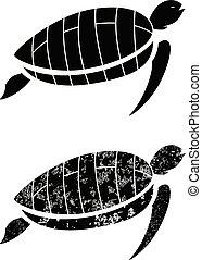 black grunge turtle