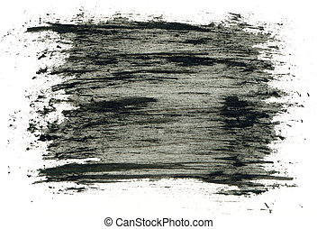 Black grungy abstract hand-painted background