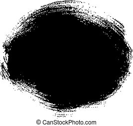 brush strokes - black grungy abstract hand-painted brush ...