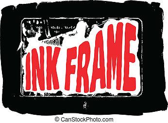Black grungy ink frame