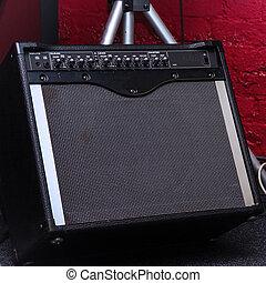 Black guitar combo amplifier
