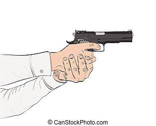 black gun