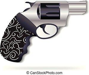 Black gun logo