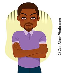 Black Guy Displeased Expression - Displeased black guy with...