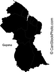 Black Guyana map