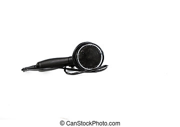 black hair dryer isolated on white background