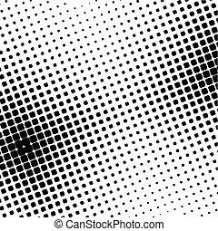 black halftone dot (vector illustration)