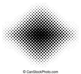Black halftone pattern