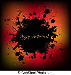 Black Halloween Illustrations With Blobs