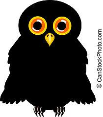Black halloween owl