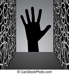 Black hand - Creative design of black hand