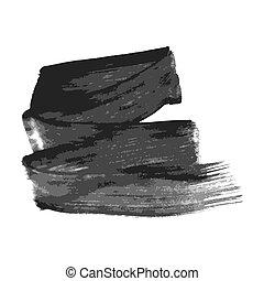 Black hand drawn ink stain