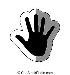black hand icon image