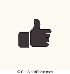 black hand thumbs up icon, vector,