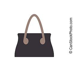 Black Handbag Template, Color Vector Illustration