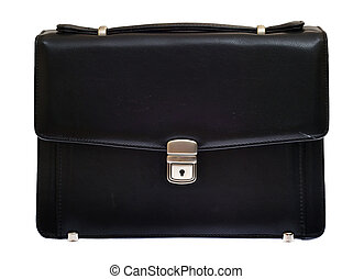 Black handy bag isolated on a white background.