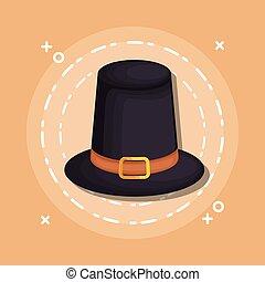 black hat cartoon