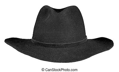 Black hat isolated on a white