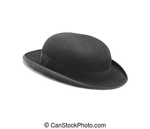 Black hat isolated on the white background