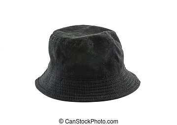 black hat isolated on white background