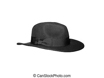 Black hat on white background