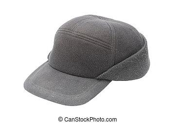 black hat over white