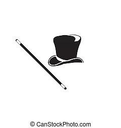 black hat. Vector illustration