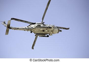 Black hawk landing rescue team crow