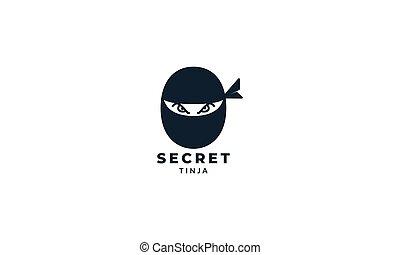 black head ninja simple modern logo vector illustration design