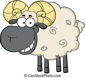 Black Head Ram Sheep Character