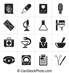Healthcare and Medicine icons - Black Healthcare and...