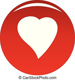 Black Heart icon vector red