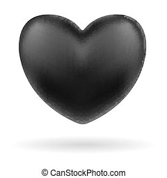 black heart logo icon on white background