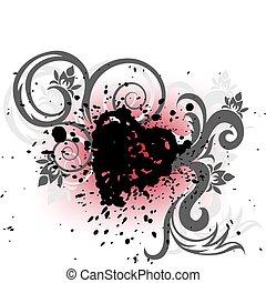 Black Heart of the spray