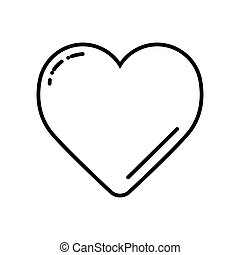 Black Heart on white vector icon. Love symbol. Valentine day concept