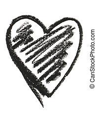 black heart shape