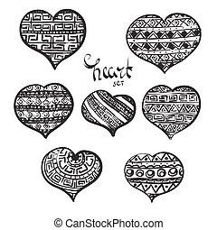 Black hearts set