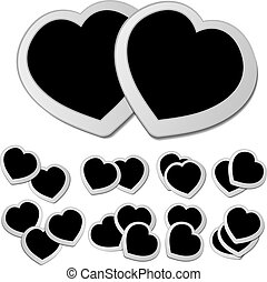 Black hearts set
