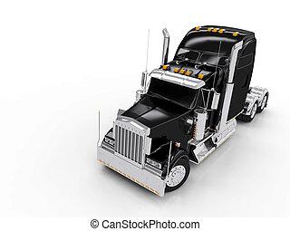 Black heavy truck