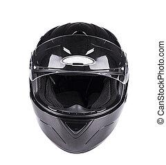 Black helmet Isolated on white