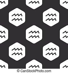 Black hexagon Aquarius pattern