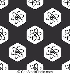 Black hexagon atom pattern