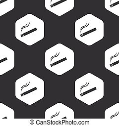 Black hexagon burning cigarette pattern