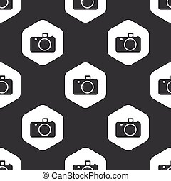 Black hexagon camera pattern