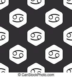 Black hexagon Cancer pattern
