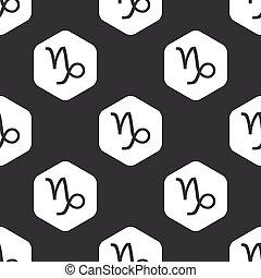 Black hexagon Capricorn pattern
