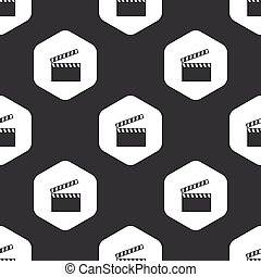 Black hexagon clapperboard pattern