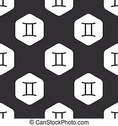 Black hexagon Gemini pattern